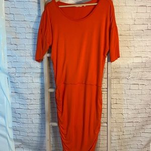 Athleta Ruched Bodycon Dress